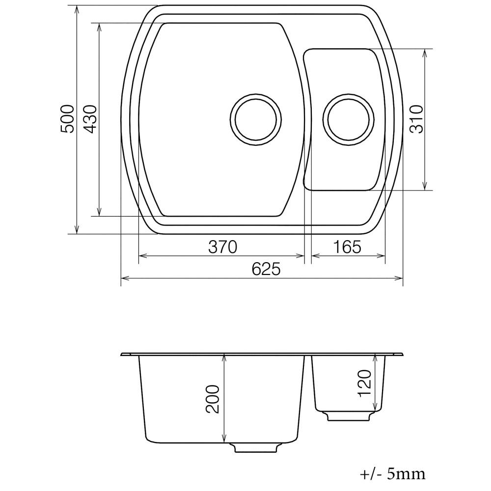Кухонна мийка VANKOR Norton NMP 03.63 Safari + сифон VANKOR