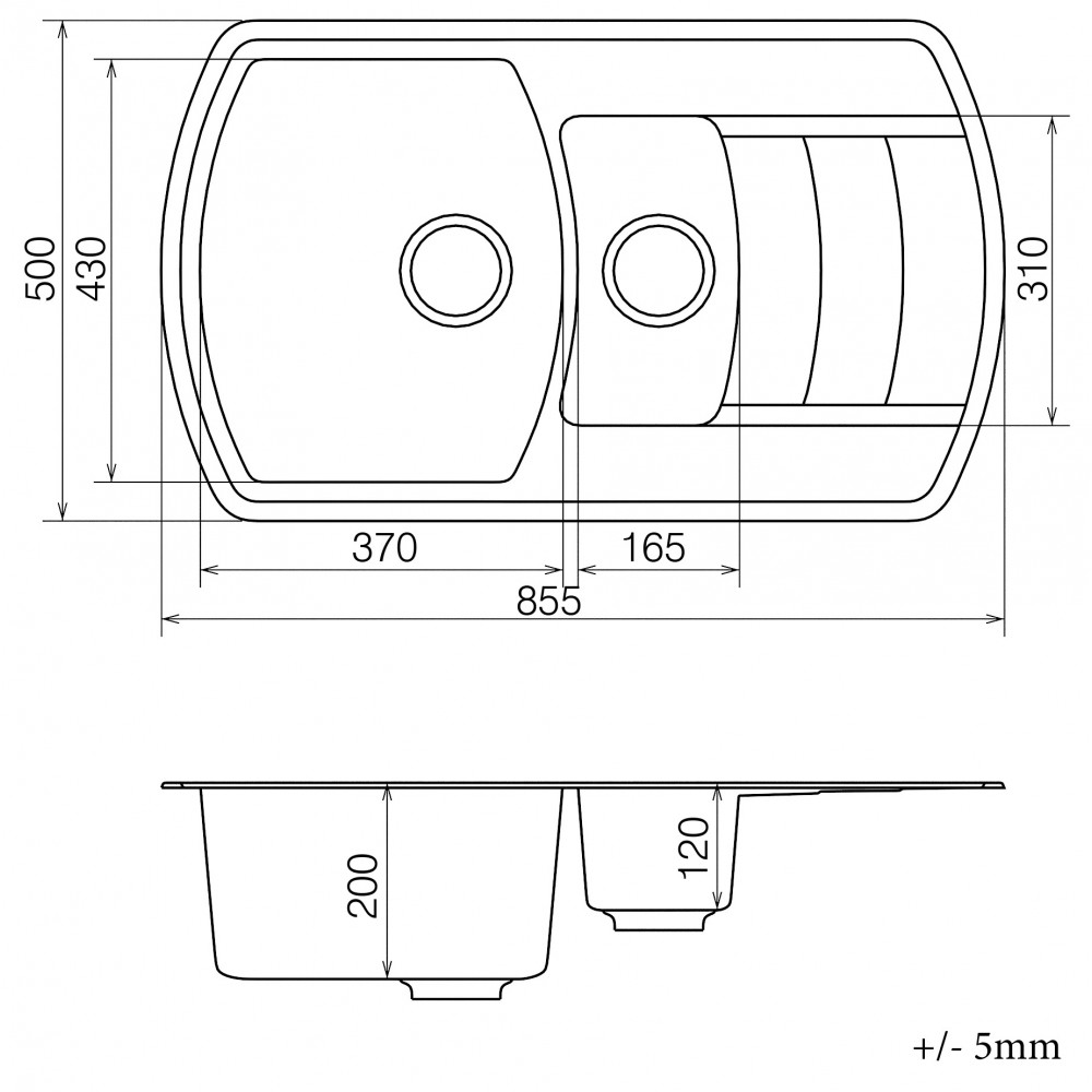 Кухонна мийка VANKOR Norton NMP 04.86 Safari + сифон VANKOR