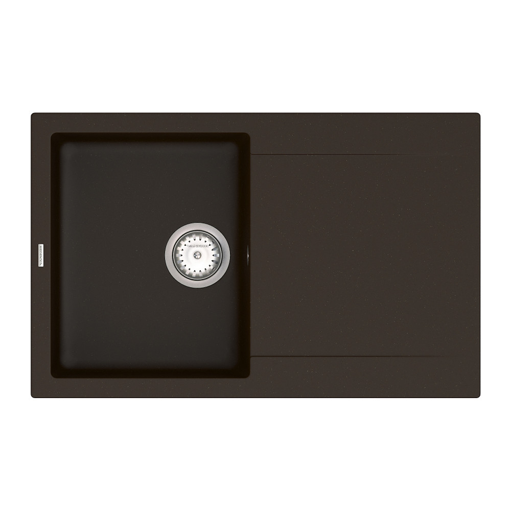 Кухонна мийка VANKOR Orman OMP 02.78 Chocolate + сифон VANKOR
