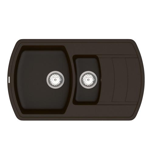 Кухонна мийка VANKOR Norton NMP 04.86 Chocolate + сифон VANKOR