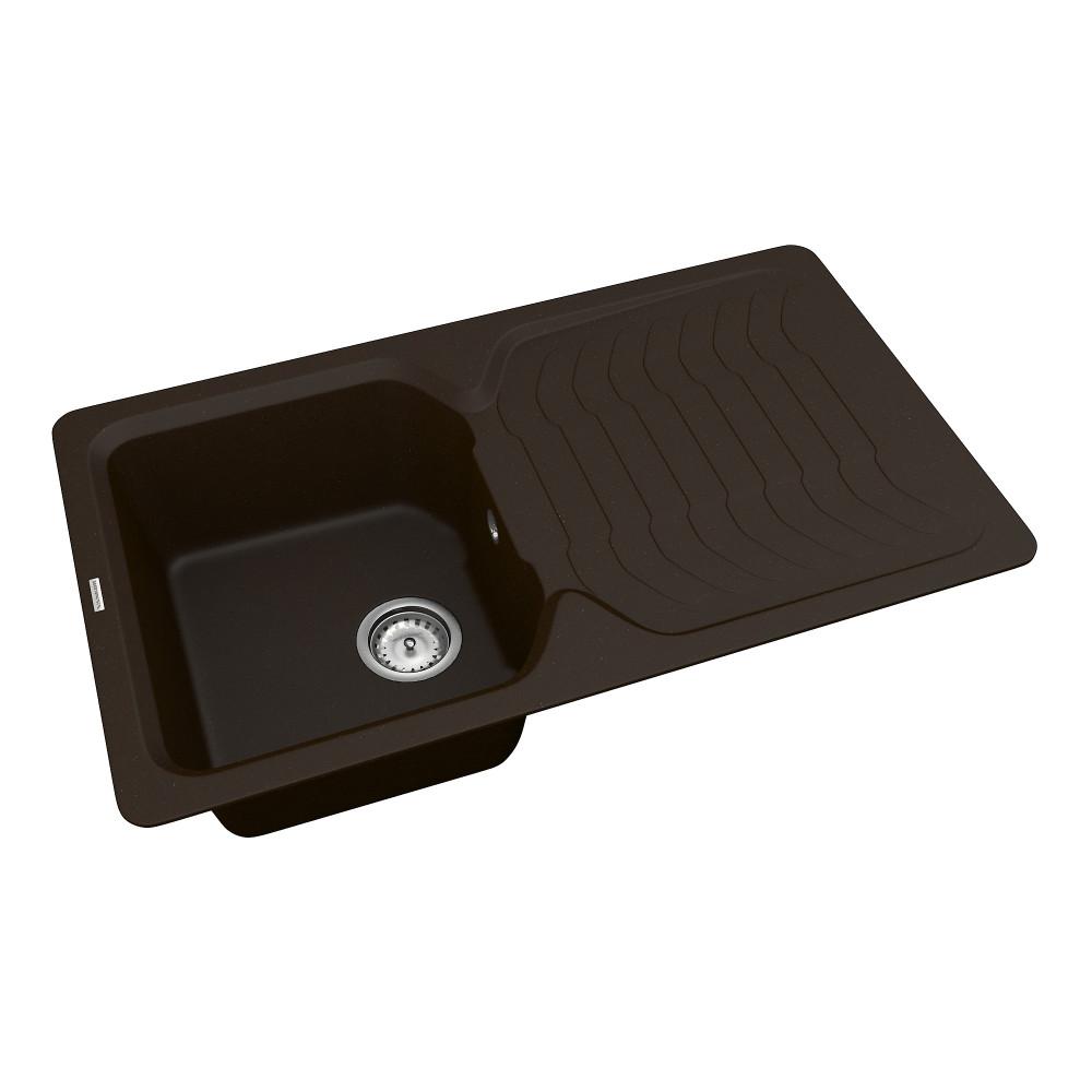 Кухонна мийка VANKOR Sigma SMP 02.85 Chocolate + сифон VANKOR