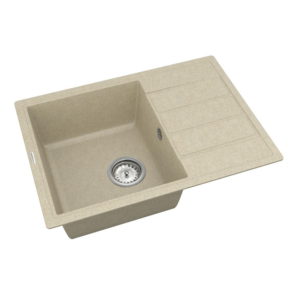 Кухонна мийка VANKOR Easy EMP 02.62 Beige + сифон VANKOR
