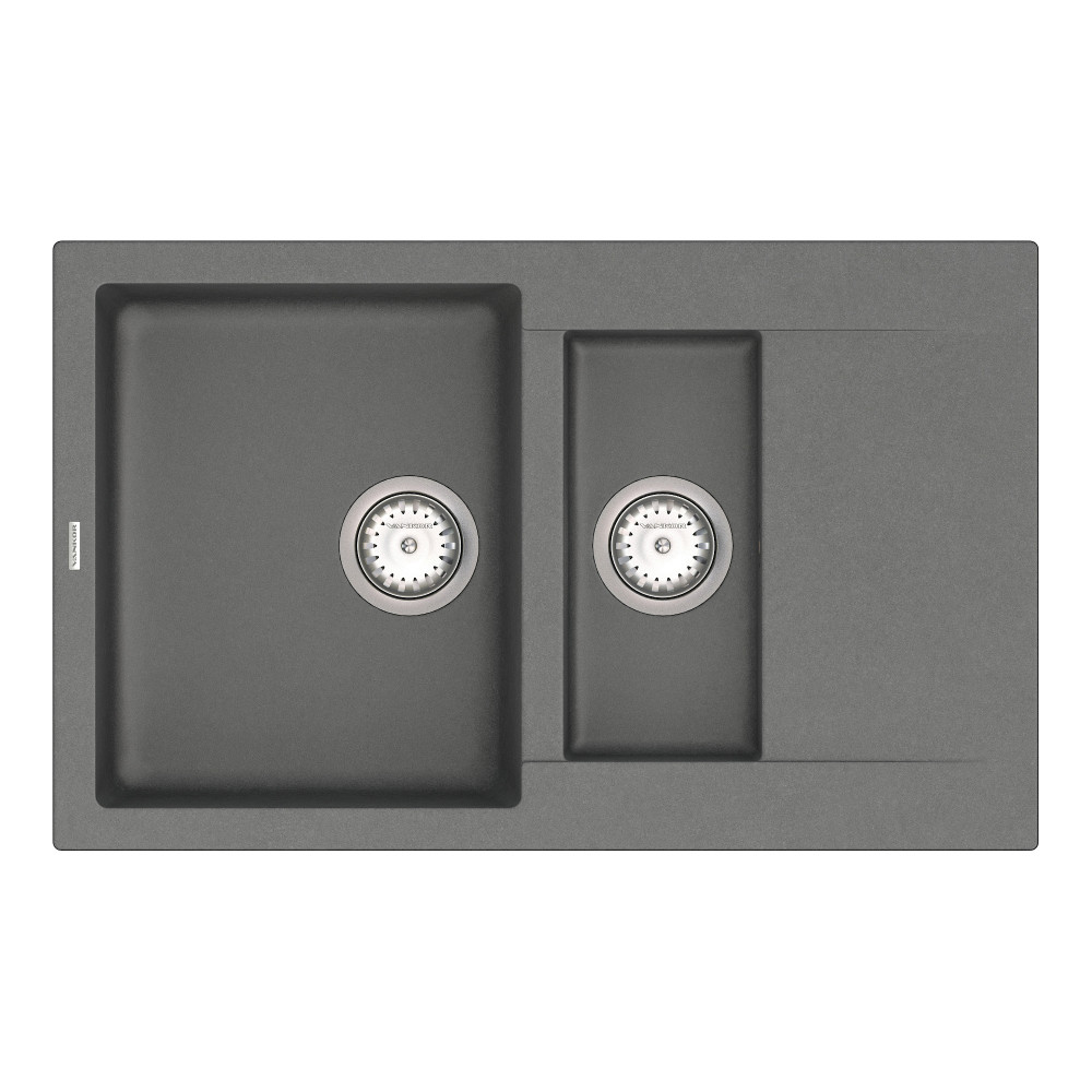Кухонна мийка VANKOR Orman OMP 04.80 Gray + сифон VANKOR