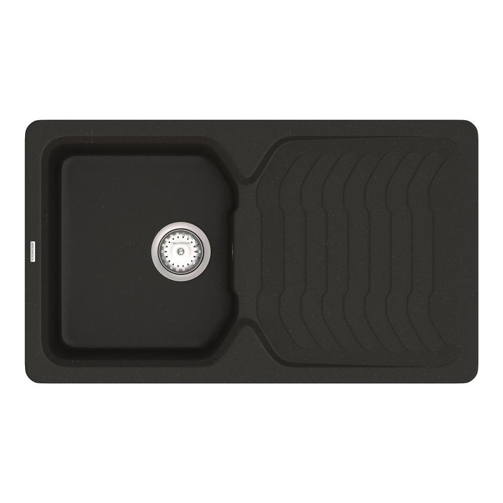 Кухонна мийка VANKOR Sigma SMP 02.85 Black + сифон VANKOR