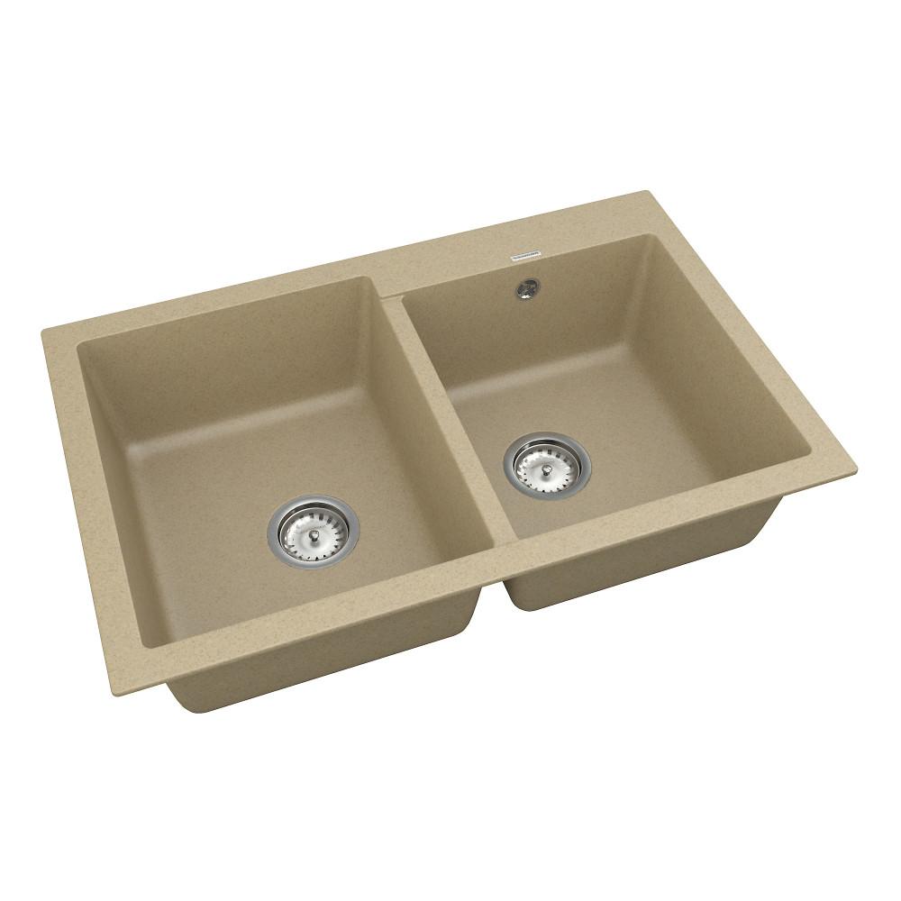 Кухонна мийка VANKOR Orman OMP 05.80 Safari + сифон VANKOR