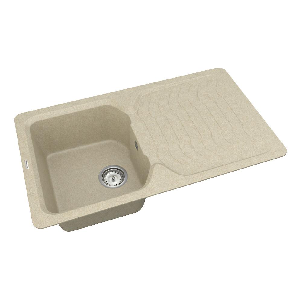 Кухонна мийка VANKOR Sigma SMP 02.85 Beige + сифон VANKOR