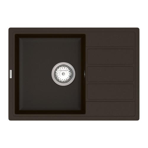 Кухонна мийка VANKOR Easy EMP 02.62 Chocolate + сифон VANKOR