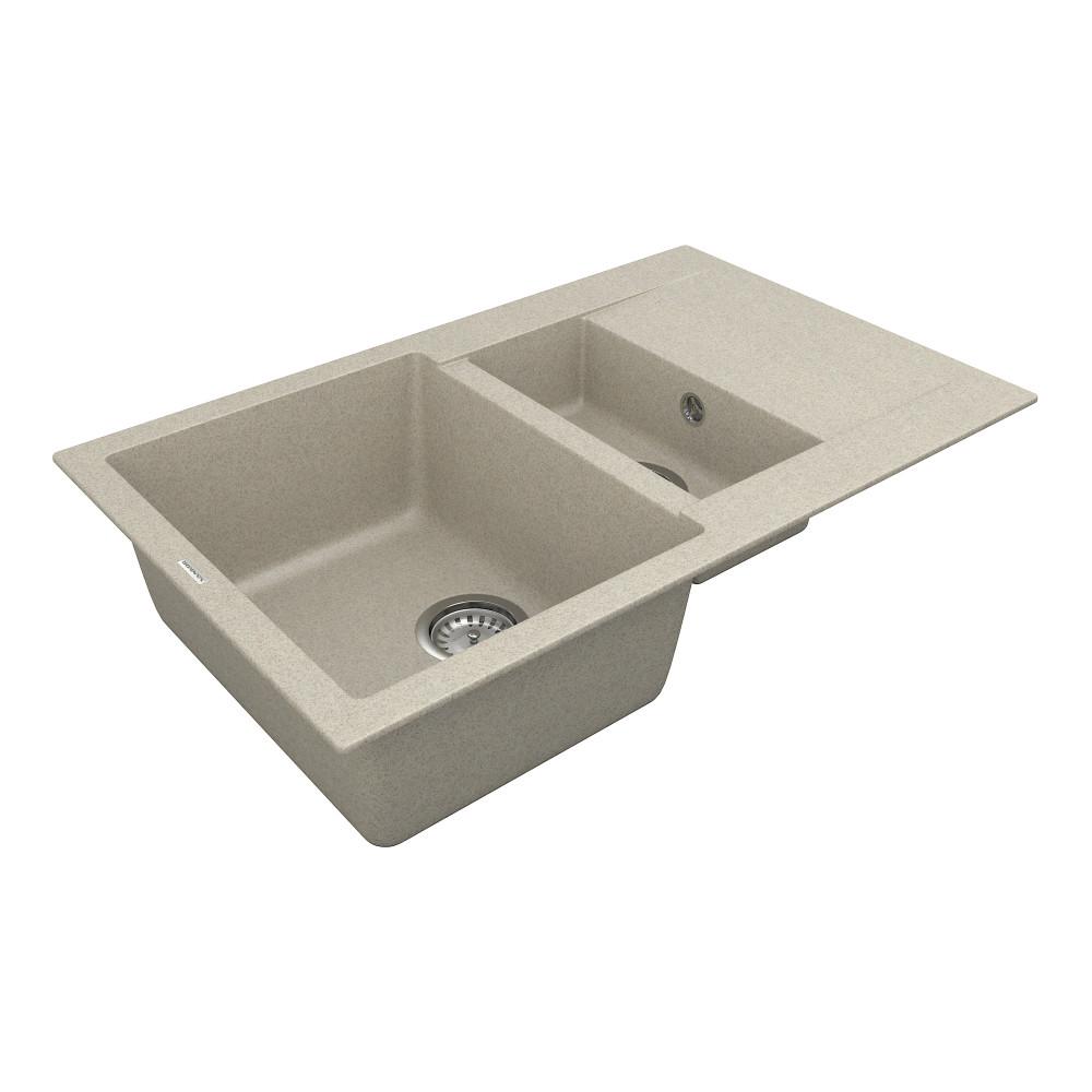 Кухонна мийка VANKOR Orman OMP 04.80 Terra + сифон VANKOR