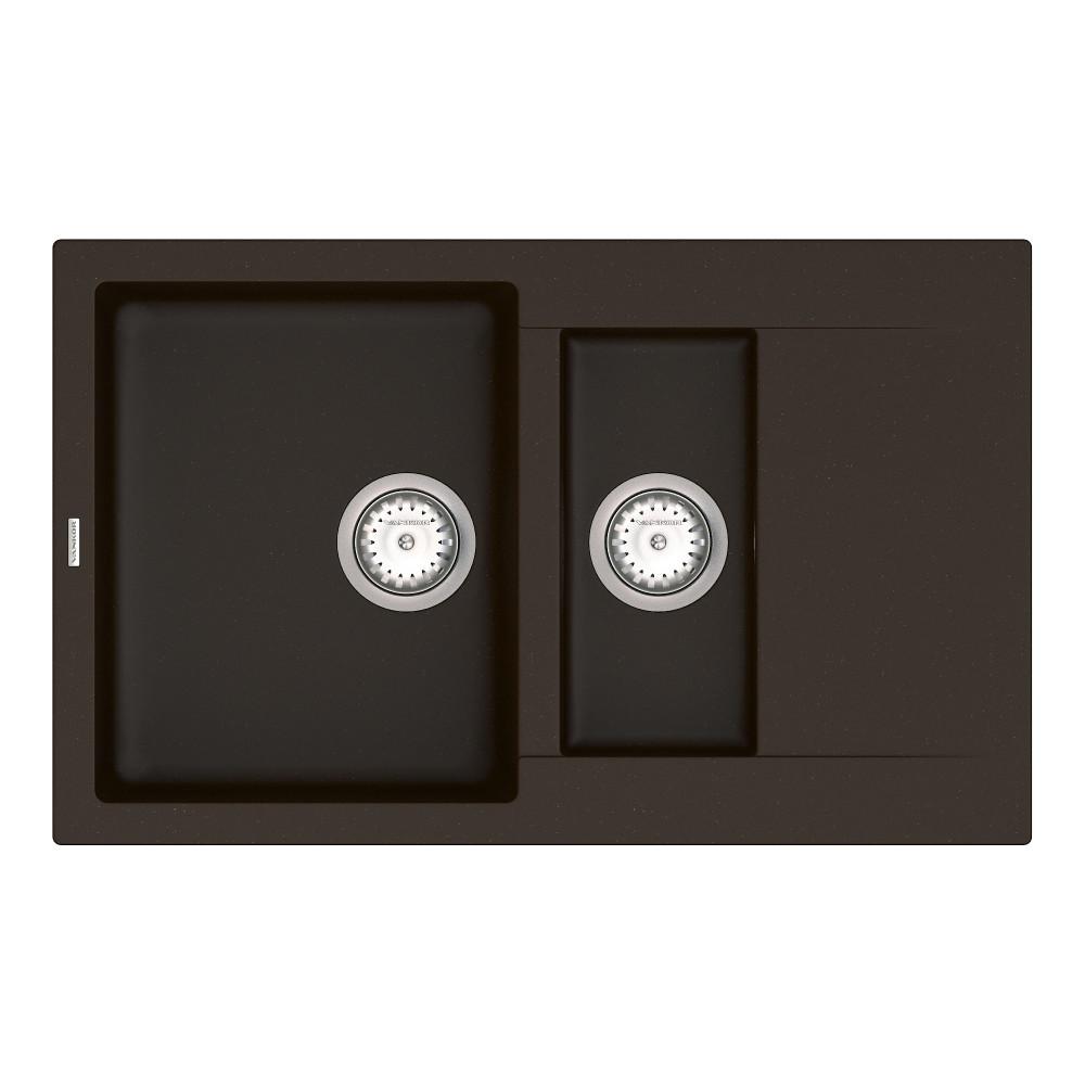 Кухонна мийка VANKOR Orman OMP 04.80 Chocolate + сифон VANKOR
