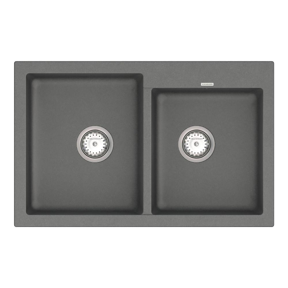 Кухонна мийка VANKOR Orman OMP 05.80 Gray + сифон VANKOR