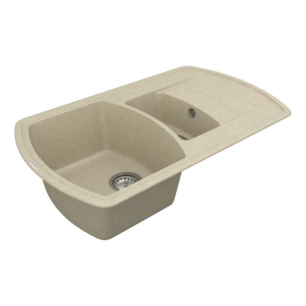 Кухонна мийка VANKOR Norton NMP 04.86 Beige + сифон VANKOR