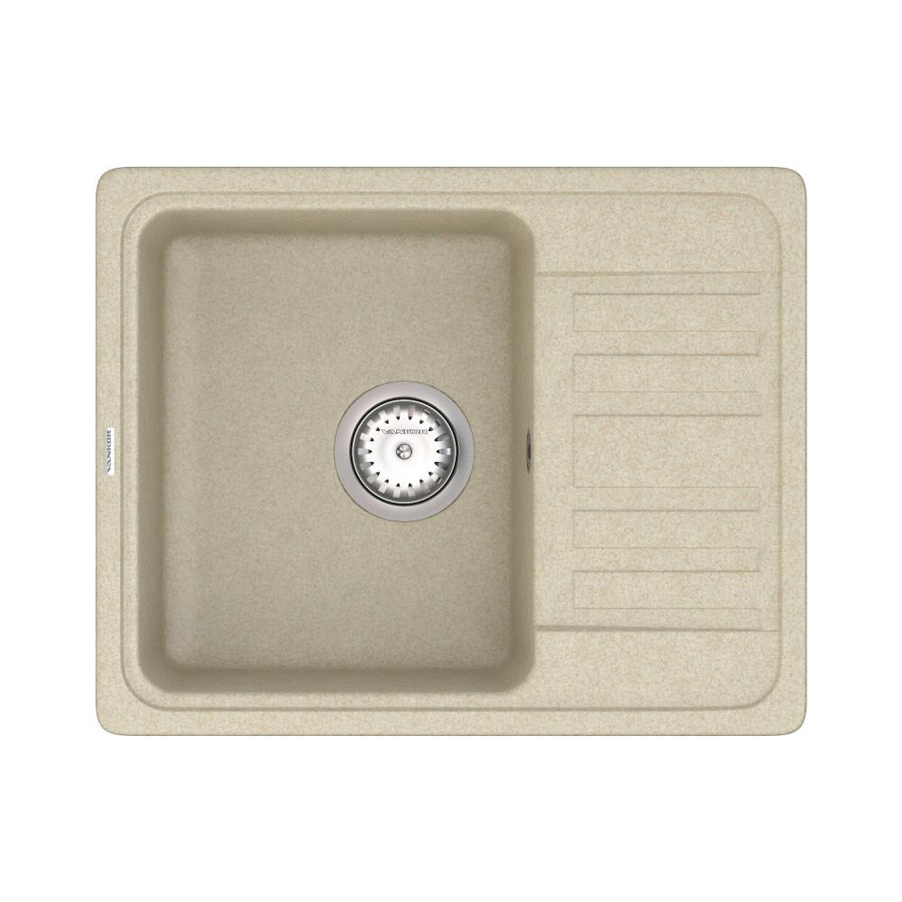 Кухонна мийка VANKOR Hope HMP 02.57 Beige + сифон VANKOR