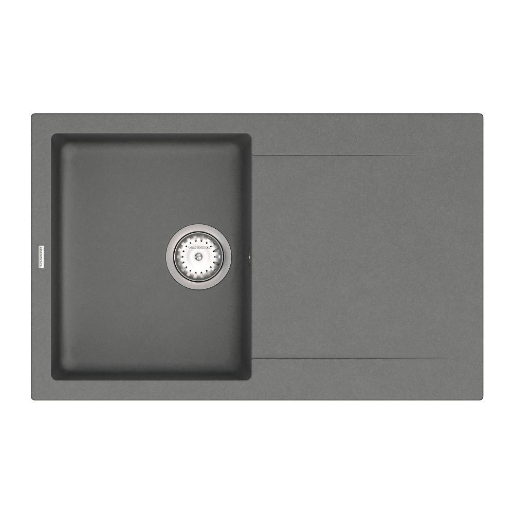 Кухонна мийка VANKOR Orman OMP 02.78 Gray + сифон VANKOR