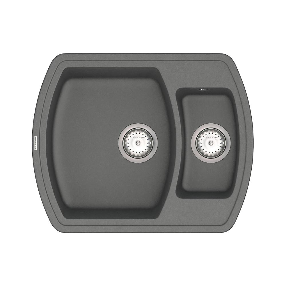 Кухонна мийка VANKOR Norton NMP 03.63 Gray + сифон VANKOR
