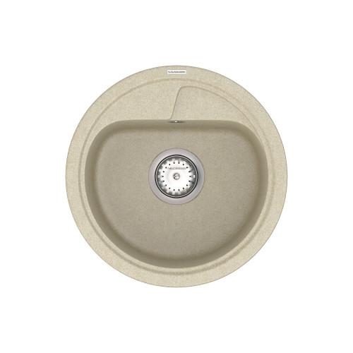 Кухонна мийка VANKOR Polo PMR 01.44 Beige + сифон VANKOR