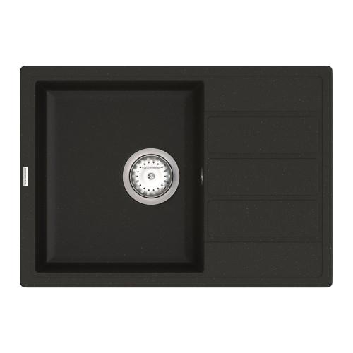 Кухонна мийка VANKOR Easy EMP 02.62 Black + сифон VANKOR