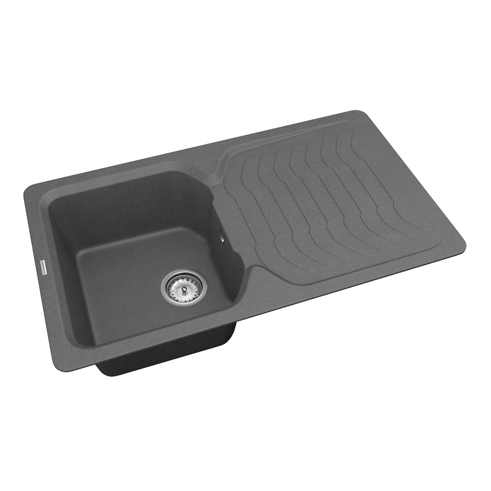 Кухонна мийка VANKOR Sigma SMP 02.85 Gray + сифон VANKOR