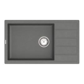 Кухонна мийка VANKOR Easy EMP 02.76 XL Gray + сифон VANKOR
