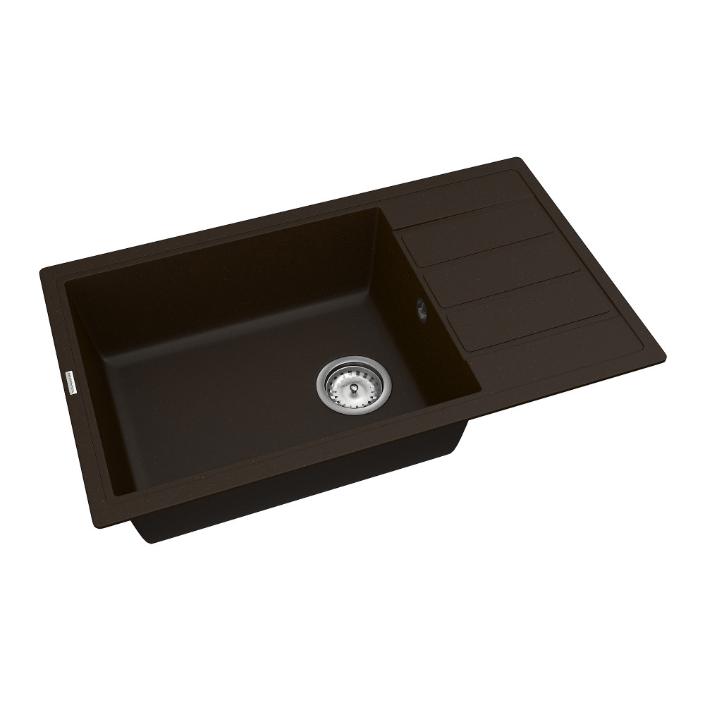 Кухонна мийка VANKOR Easy EMP 02.76 XL Chocolate + сифон VANKOR