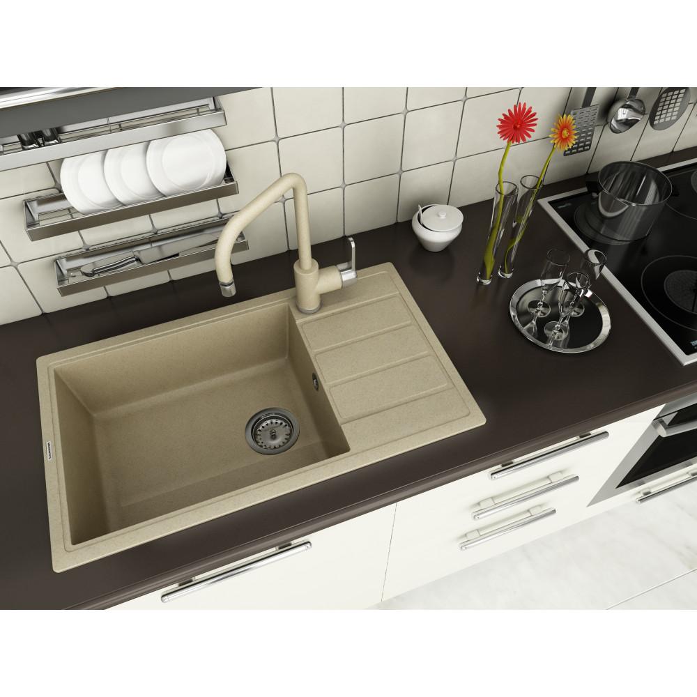 Кухонна мийка VANKOR Easy EMP 02.76 XL Safari + сифон VANKOR