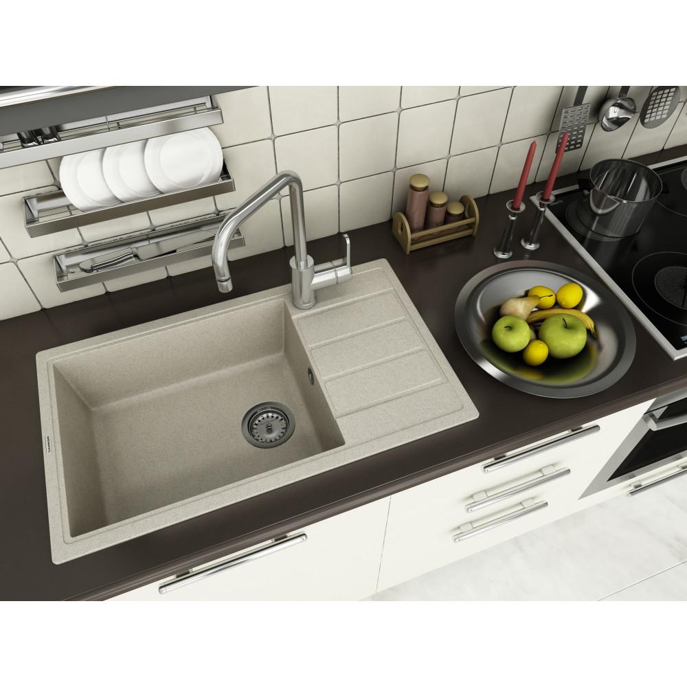 Кухонна мийка VANKOR Easy EMP 02.76 XL Terra + сифон VANKOR