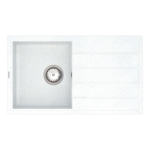 Кухонна мийка VANKOR Easy EMP 02.76 White stone + сифон VANKOR