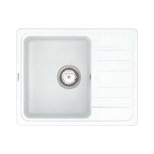 Кухонна мийка VANKOR Hope HMP 02.57 White stone + сифон VANKOR