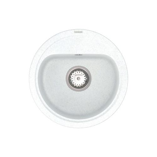Кухонна мийка VANKOR Lira LMR 01.44 White stone + сифон VANKOR