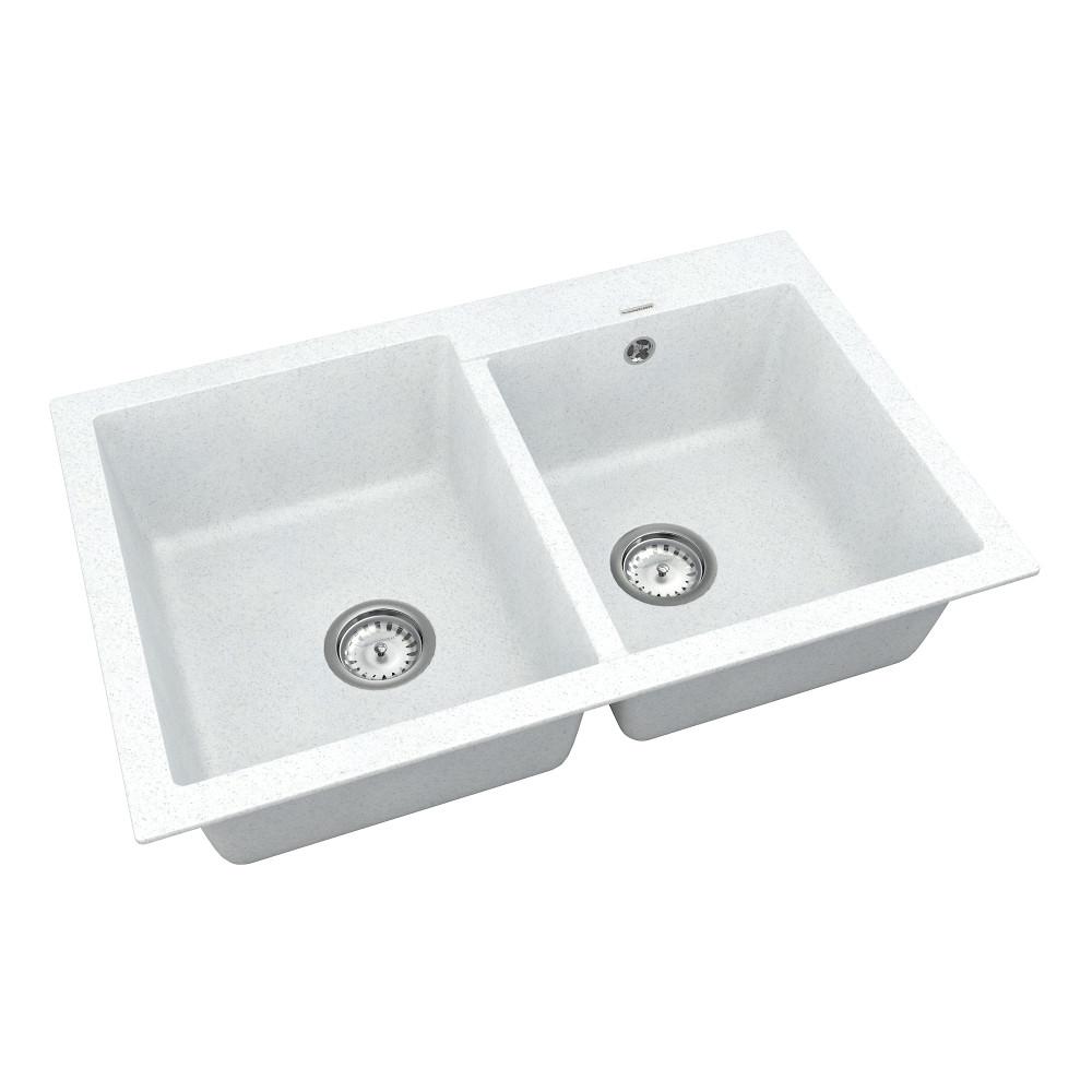 Кухонна мийка VANKOR Orman OMP 05.80 White stone + сифон VANKOR
