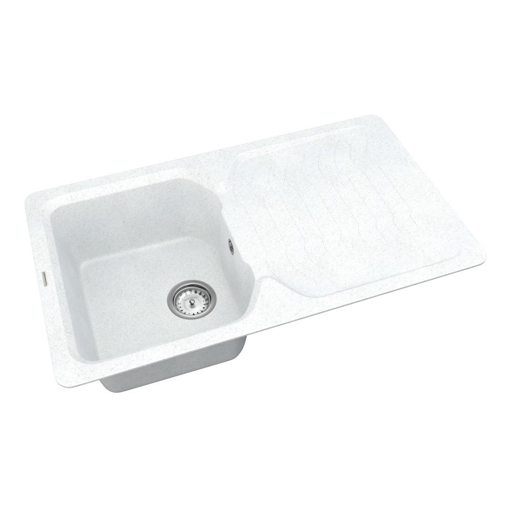 Кухонна мийка VANKOR Sigma SMP 02.85 White stone + сифон VANKOR