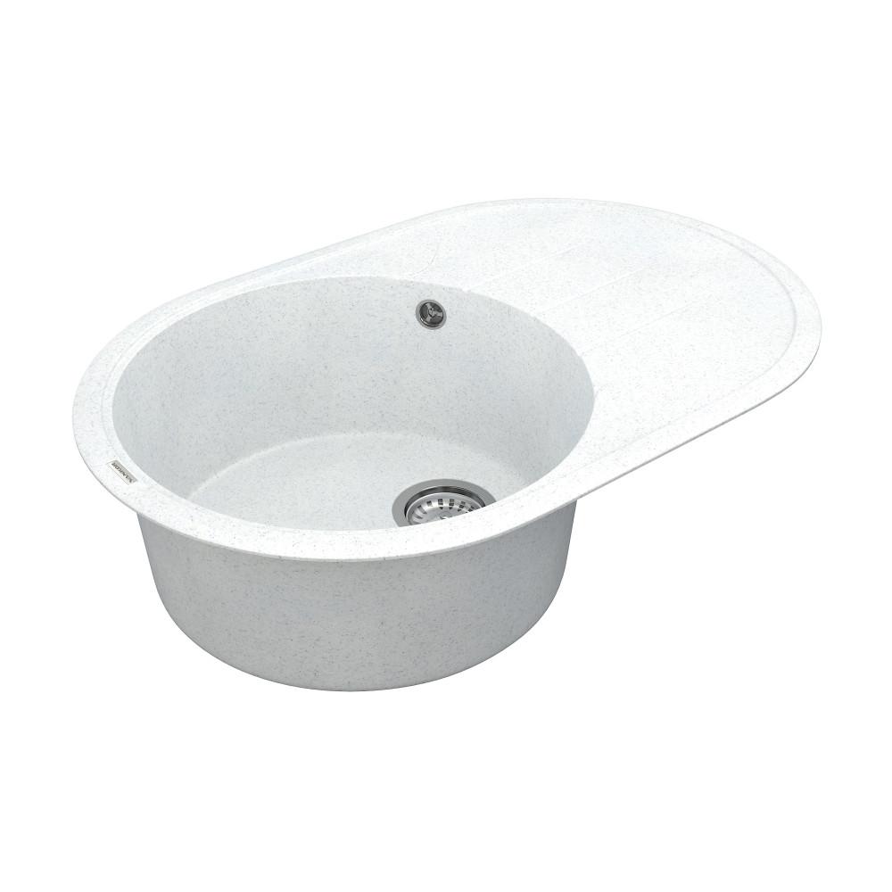 Кухонна мийка VANKOR Sity SMO 02.78 White stone + сифон VANKOR