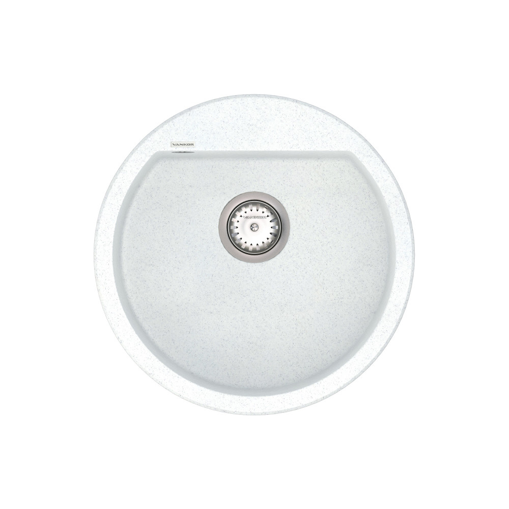 Кухонна мийка VANKOR Tera TMR 01.50 White stone + сифон VANKOR